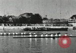 Image of Scenes from an annual Harvard and Yale rowing race on the Thames River New London Connecticut USA, 1900, second 30 stock footage video 65675063384