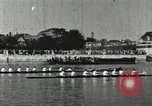 Image of Scenes from an annual Harvard and Yale rowing race on the Thames River New London Connecticut USA, 1900, second 32 stock footage video 65675063384