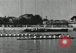 Image of Scenes from an annual Harvard and Yale rowing race on the Thames River New London Connecticut USA, 1900, second 34 stock footage video 65675063384
