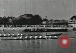 Image of Scenes from an annual Harvard and Yale rowing race on the Thames River New London Connecticut USA, 1900, second 35 stock footage video 65675063384