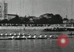 Image of Scenes from an annual Harvard and Yale rowing race on the Thames River New London Connecticut USA, 1900, second 36 stock footage video 65675063384