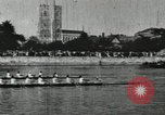 Image of Scenes from an annual Harvard and Yale rowing race on the Thames River New London Connecticut USA, 1900, second 37 stock footage video 65675063384