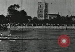 Image of Scenes from an annual Harvard and Yale rowing race on the Thames River New London Connecticut USA, 1900, second 38 stock footage video 65675063384