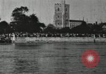 Image of Scenes from an annual Harvard and Yale rowing race on the Thames River New London Connecticut USA, 1900, second 39 stock footage video 65675063384
