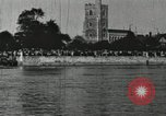 Image of Scenes from an annual Harvard and Yale rowing race on the Thames River New London Connecticut USA, 1900, second 40 stock footage video 65675063384