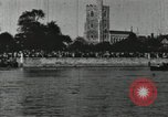 Image of Scenes from an annual Harvard and Yale rowing race on the Thames River New London Connecticut USA, 1900, second 41 stock footage video 65675063384