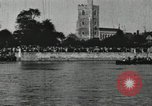 Image of Scenes from an annual Harvard and Yale rowing race on the Thames River New London Connecticut USA, 1900, second 42 stock footage video 65675063384