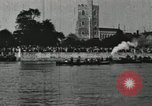 Image of Scenes from an annual Harvard and Yale rowing race on the Thames River New London Connecticut USA, 1900, second 44 stock footage video 65675063384