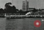Image of Scenes from an annual Harvard and Yale rowing race on the Thames River New London Connecticut USA, 1900, second 45 stock footage video 65675063384