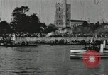 Image of Scenes from an annual Harvard and Yale rowing race on the Thames River New London Connecticut USA, 1900, second 46 stock footage video 65675063384