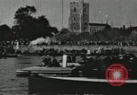 Image of Scenes from an annual Harvard and Yale rowing race on the Thames River New London Connecticut USA, 1900, second 47 stock footage video 65675063384