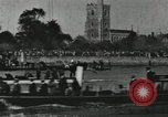 Image of Scenes from an annual Harvard and Yale rowing race on the Thames River New London Connecticut USA, 1900, second 49 stock footage video 65675063384