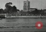 Image of Scenes from an annual Harvard and Yale rowing race on the Thames River New London Connecticut USA, 1900, second 52 stock footage video 65675063384