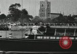 Image of Scenes from an annual Harvard and Yale rowing race on the Thames River New London Connecticut USA, 1900, second 54 stock footage video 65675063384