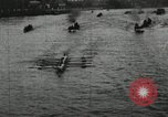 Image of Harvard and Yale crews race in their annual rowing competition in New  New London Connecticut USA, 1900, second 17 stock footage video 65675063385