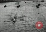 Image of Harvard and Yale crews race in their annual rowing competition in New  New London Connecticut USA, 1900, second 18 stock footage video 65675063385