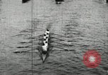 Image of Harvard and Yale crews race in their annual rowing competition in New  New London Connecticut USA, 1900, second 19 stock footage video 65675063385