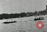 Image of Harvard and Yale crews race in their annual rowing competition in New  New London Connecticut USA, 1900, second 44 stock footage video 65675063385