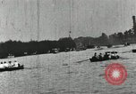 Image of Harvard and Yale crews race in their annual rowing competition in New  New London Connecticut USA, 1900, second 45 stock footage video 65675063385