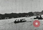 Image of Harvard and Yale crews race in their annual rowing competition in New  New London Connecticut USA, 1900, second 53 stock footage video 65675063385