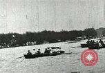 Image of Harvard and Yale crews race in their annual rowing competition in New  New London Connecticut USA, 1900, second 55 stock footage video 65675063385