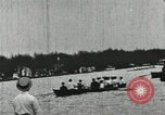 Image of Harvard and Yale crews race in their annual rowing competition in New  New London Connecticut USA, 1900, second 56 stock footage video 65675063385