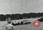 Image of Harvard and Yale crews race in their annual rowing competition in New  New London Connecticut USA, 1900, second 57 stock footage video 65675063385