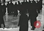 Image of Ice skating races outdoors on a flooded stadium ice rink during winter United States USA, 1900, second 6 stock footage video 65675063386