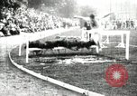 Image of Amateur runners compete in steeplechase race with obstacles United States USA, 1900, second 22 stock footage video 65675063388