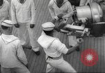 Image of United States ship in a storm Atlantic Ocean, 1933, second 52 stock footage video 65675063409