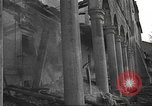 Image of destroyed palace Guadalajara Spain, 1936, second 9 stock footage video 65675063413