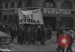 Image of Union supporters on parade Valencia Spain, 1936, second 21 stock footage video 65675063421