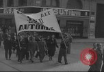 Image of Union supporters on parade Valencia Spain, 1936, second 23 stock footage video 65675063421