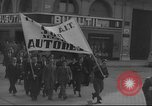 Image of Union supporters on parade Valencia Spain, 1936, second 24 stock footage video 65675063421
