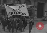 Image of Union supporters on parade Valencia Spain, 1936, second 25 stock footage video 65675063421