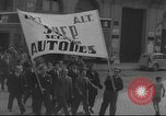 Image of Union supporters on parade Valencia Spain, 1936, second 26 stock footage video 65675063421