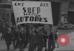 Image of Union supporters on parade Valencia Spain, 1936, second 27 stock footage video 65675063421