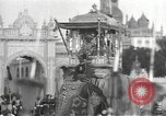 Image of Procession with decorated elephant Bombay India, 1932, second 23 stock footage video 65675063442