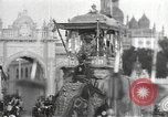 Image of Procession with decorated elephant Bombay India, 1932, second 24 stock footage video 65675063442