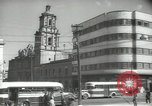 Image of traffic on streets Mexico City Mexico, 1944, second 33 stock footage video 65675063455