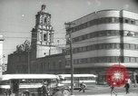 Image of traffic on streets Mexico City Mexico, 1944, second 34 stock footage video 65675063455