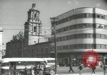 Image of traffic on streets Mexico City Mexico, 1944, second 35 stock footage video 65675063455