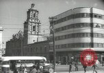 Image of traffic on streets Mexico City Mexico, 1944, second 36 stock footage video 65675063455