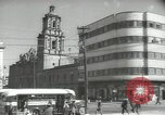 Image of traffic on streets Mexico City Mexico, 1944, second 37 stock footage video 65675063455