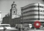 Image of traffic on streets Mexico City Mexico, 1944, second 39 stock footage video 65675063455