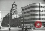 Image of traffic on streets Mexico City Mexico, 1944, second 40 stock footage video 65675063455