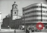 Image of traffic on streets Mexico City Mexico, 1944, second 41 stock footage video 65675063455