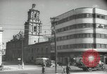 Image of traffic on streets Mexico City Mexico, 1944, second 42 stock footage video 65675063455