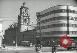 Image of traffic on streets Mexico City Mexico, 1944, second 43 stock footage video 65675063455