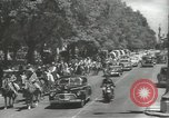 Image of ongoing parade Mexico City Mexico, 1944, second 2 stock footage video 65675063456